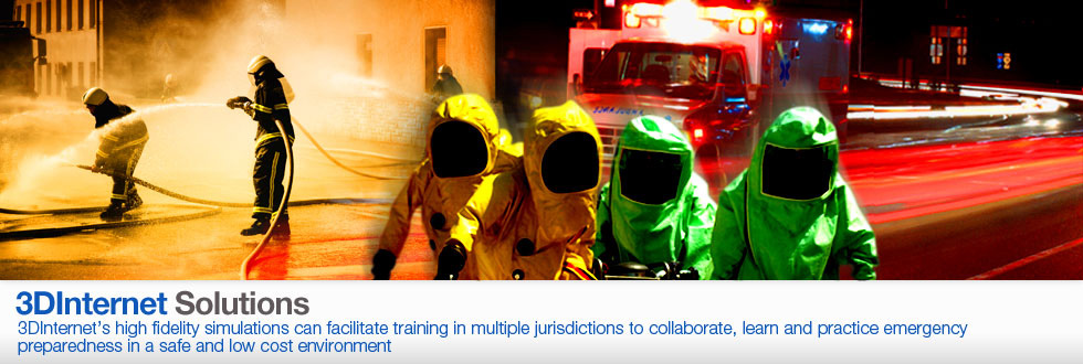 3DInternet's high fidelity simulations can facilitate training in multiple jurisdictions to collaborate, learn and practice emergency preparedness in a safe and low cost environment.